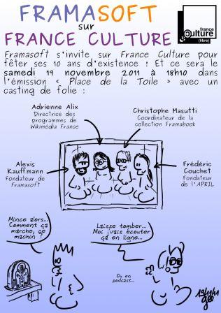 Framasoft sur France Culture - Gee - CC by-sa