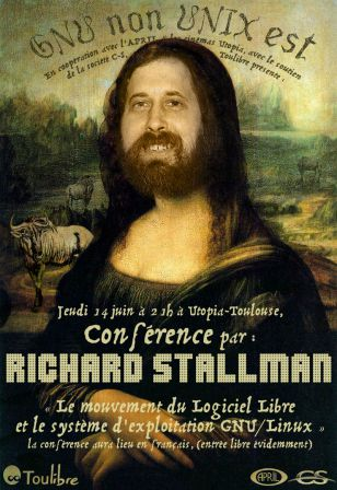 Conférence Stallman - Affiche Utopia (Toulibre)