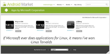 Android Market - Microsoft