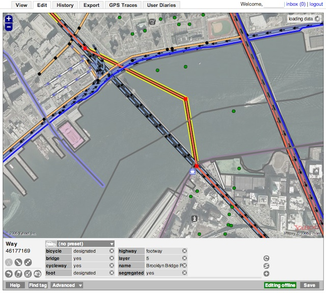 OpenStreetMap - ArsTechnica - Brooklyn Bridge