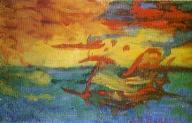Boronali - Coucher de Soleil sur l'Adriatique - Wikimedia Commons CC by-sa