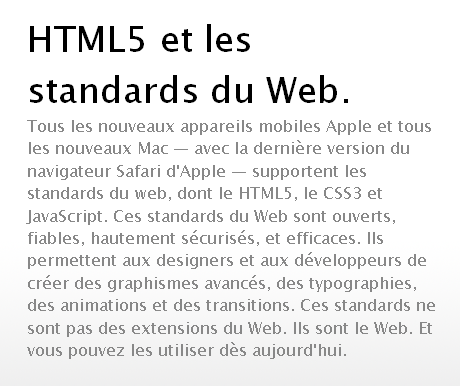 HTML5 et les standards du Web