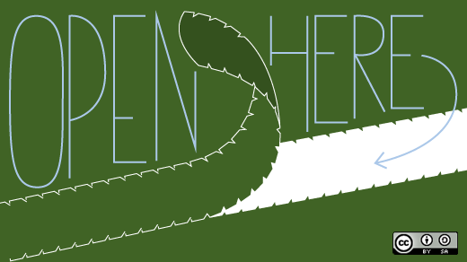 Open Here - The Open Source Way - CC by-sa