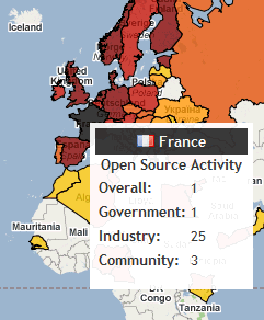 Open Source World Map - Red Hat - France