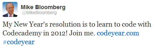 Tweet - Mike Bloomberg