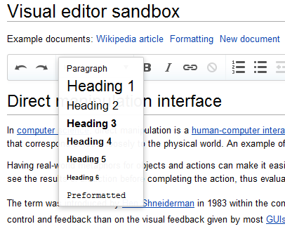 Wikipédia Visual Editor