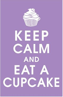 keep clam eat a cupcake