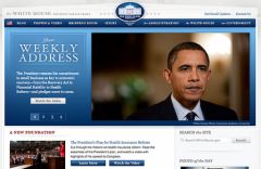 Copie d'écran - WhiteHouse.gov - Drupal