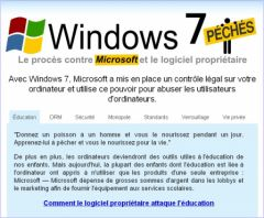 Copie d'écran - Windows7Sins en français