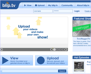Blip.tv screenshot