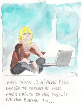 Caricature Flavie Flament - pub TF1 - Pfelelep