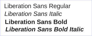 Liberation fonts Sans - Red Hat - GPLv2