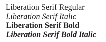 Liberation fonts Serif - Red Hat - GPLv2
