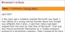 Microsoft is dead - Screenshot