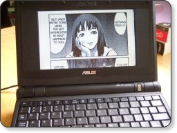 On line manga on Asus Eee PC - Steve Keys - CC-by