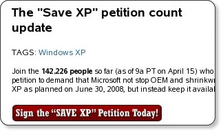 Save XP - Petition - Inforworld