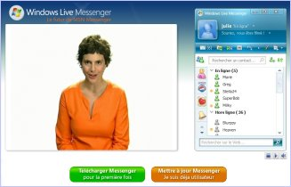 Copie d'écran - MSN Windows Live Messenger