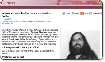 Interview Stallman - NewScientist.com