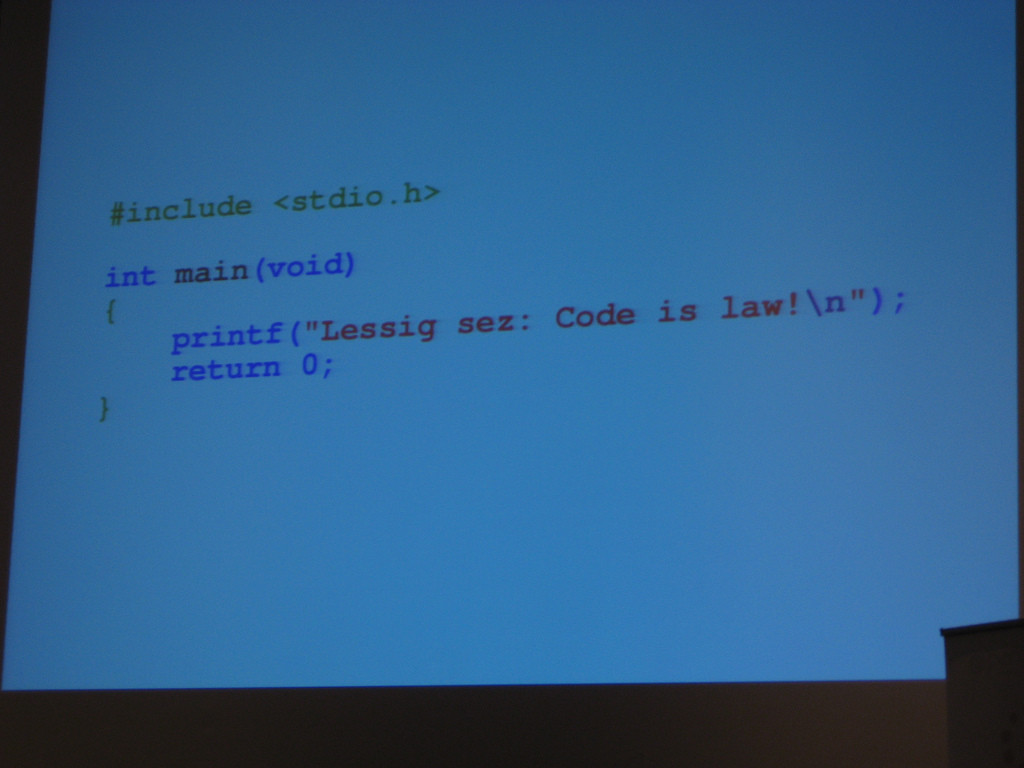 code is law CC-BY-SA FSCONS