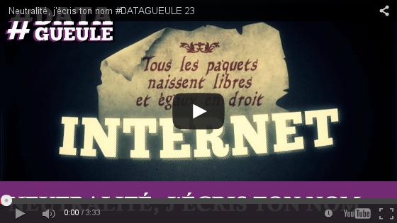 Vidéo « Neutralité, j'écris ton nom » sur Youtube