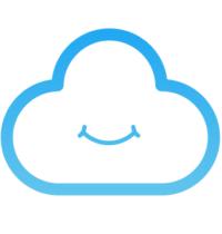 logo de cozy, nuage qui sourit