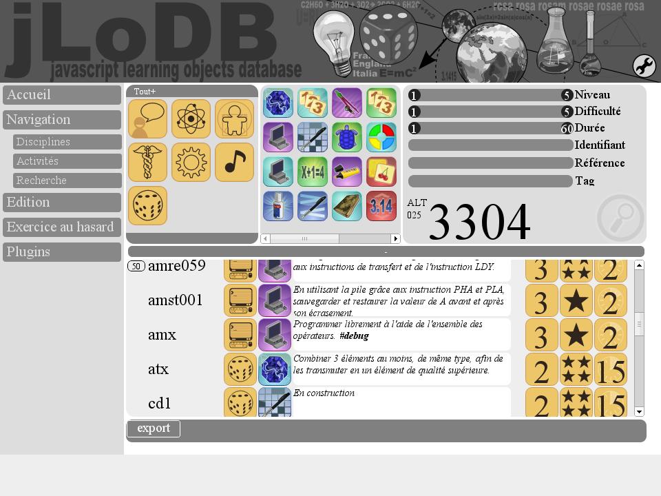 Le site jLoDB
