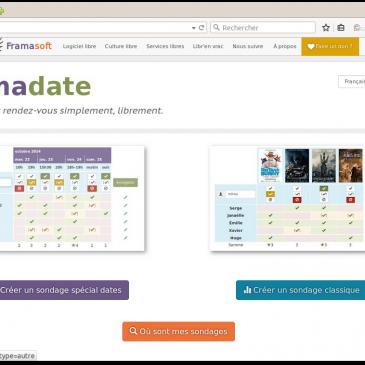 Framadate: un tuto et un openbar.