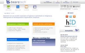 capture écran du site Bearstech.com