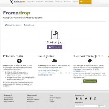Framadrop: envoyez de gros fichiers en toute sécurité!