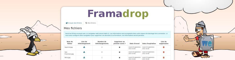 Framadrop, une alternative à WeTransfer avec du chiffrement