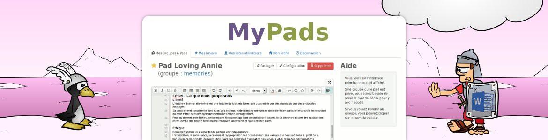 MyPads, l'alternative à GoogleDocs