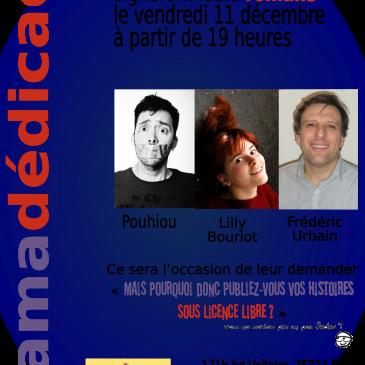 3 auteurs de romans Framabook en dédicace à Paris!