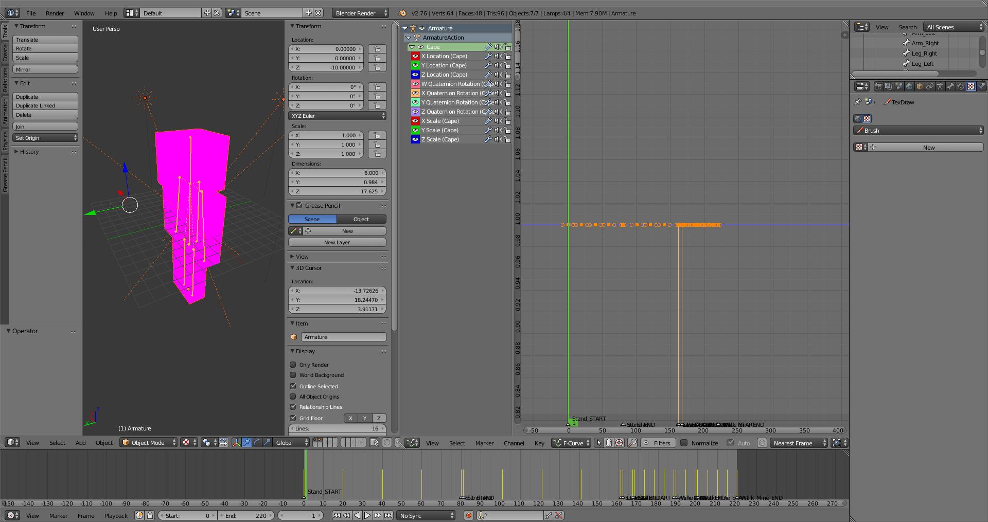 Même les formes des personnages peuvent être modifiées en utilisant Blender