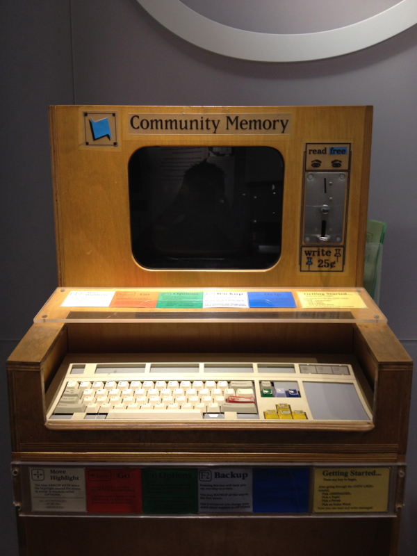 Community Memory Project 1975 Computer History Museum Mountain View California CC By Sa Wikipedia