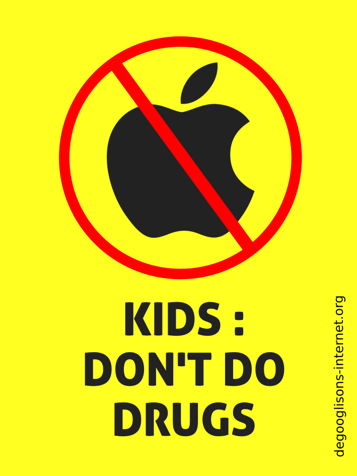 Apple : Kids, don't do drugs