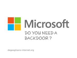Do you need a backdoor ?