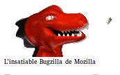 l'insatiable vieux dino de Mozilla se goinfre de bugs