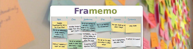 Framemo : organisez vos tempêtes de cerveaux !