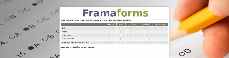 Framaforms : vos formulaires hors de portée de Google.