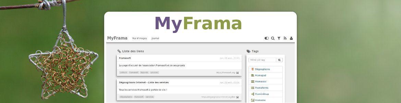 MyFrama : retrouvez aisément vos favoris... et vos services Frama !