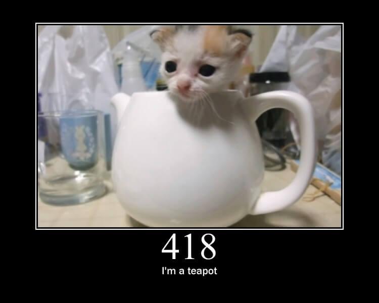 Par contre, si c'est juste pour prendre le thé... merci de se référer à l'erreur 418.