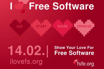 Donnons des preuves d'amour au Logiciel Libre! #ilovefs