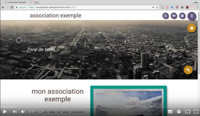 Vidéo « Créer le site de votre association avec les Pages Framasite » sur YouTube