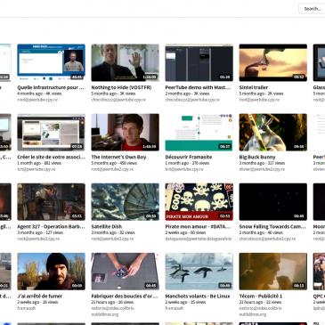 PeerTube: Y'a déjà plein de vidéos!