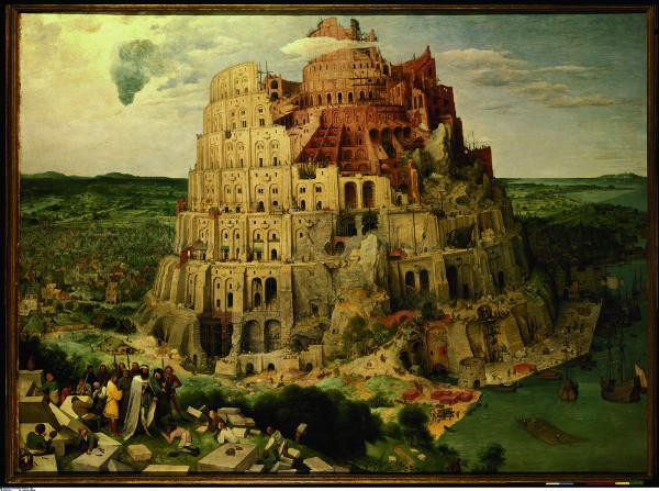 la Tour de Babel, tableau de Brueghel l'Ancien