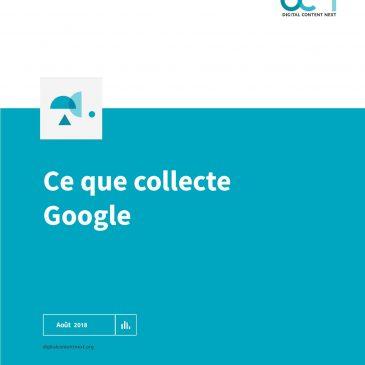 Les données que récolte Google, document complet