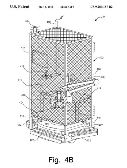 projet d'Amazon pour transporter le shumains dans une cage de protection par arpport aux robots dangereux