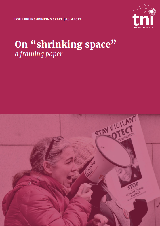 « On Shrinking Space », rapport de l'organisation TNI