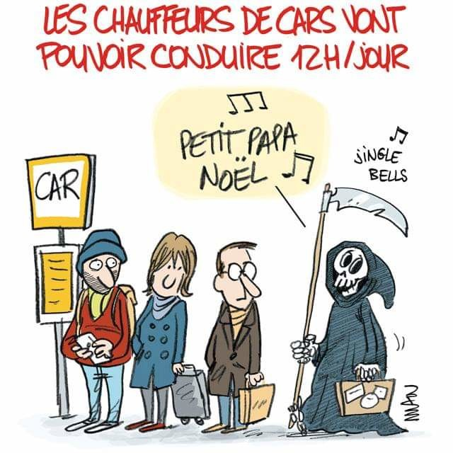 la mort attend l'autobus en chantant