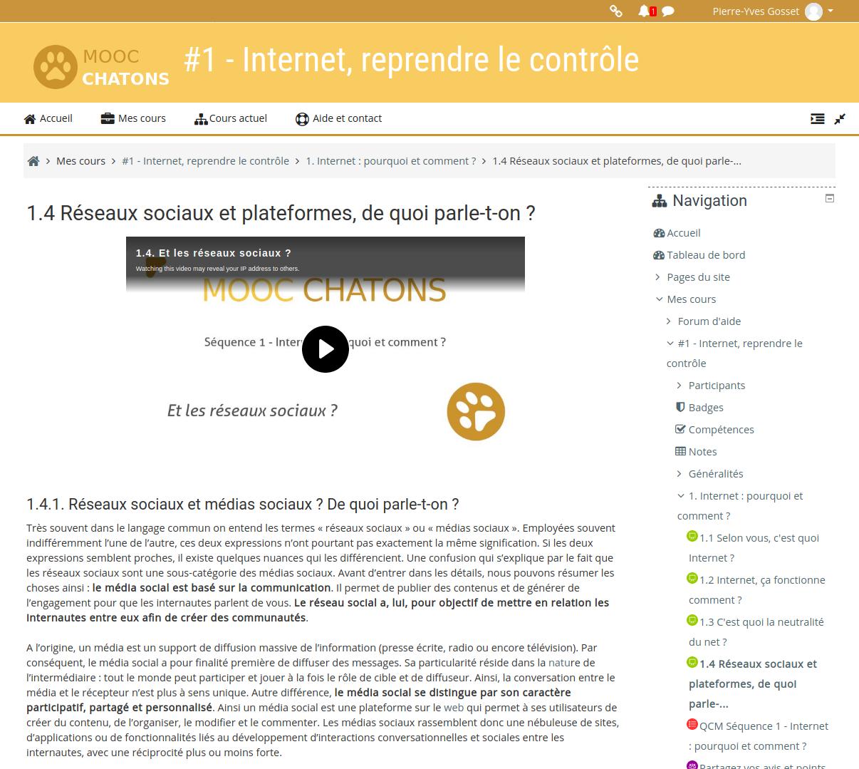 MOOC #1.1.4 Médias sociaux